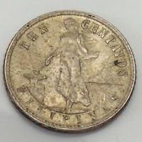 1945 Ten 10 Centavos Filipinas United States Philippines Circulated Coin E756