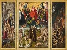 PAINTING TRIPTYCH MEMLING THE LAST JUDGMENT WALL POSTER ART PRINT LF3396