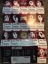 2016-17 OKLAHOMA SOONERS COLLEGE BASKETBALL TICKET SHEET STRIP STUBS