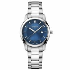 Wenger 01.1421.106 Women's Blue Dial Steel Bracelet Swiss Watch