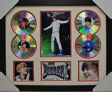 JUSTIN BIEBER 4CD SIGNED FRAMED MEMORABILIA LIMITED EDITION