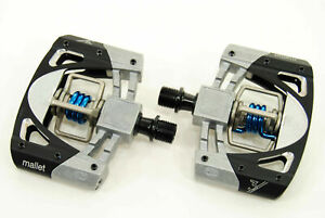 (NEW) Crank Brothers Mallet 3 Platform Mountain Bike Pedals - Black/Silver/Blue
