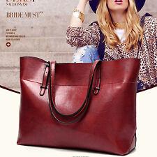 Rot Damentasche Shopper Leder Tasche Handtasche Damentaschen Schultertasche Groß