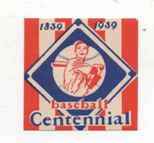 1839-1939 Sticker from the 100th Anniversary of Baseball