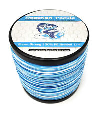 Reaction Tackle High Performance Braided Fishing Line / Braid - Blue Camouflage