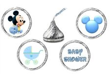 216 (54 ea of 4 design) MICKEY MOUSE BABY SHOWER Kisses Kiss Label Sticker Favor