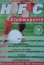 Programm 1999/00 HFC Hallescher FC - TSG Calbe