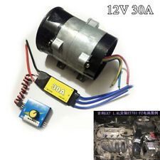 12V Car Electric Turbo Supercharger Kit Air Intake Fan Boost w/30A Brushless ESC
