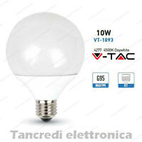 Lampadina led V-TAC 10W = 60W E27 bianco naturale 4500K VT-1893 globo G95 smd
