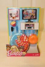 Barbie Movie Night Fun Playset~NRFB~Mattel~Doll Furniture~Accessories~2016~NEW