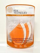 Real Techniques Miracle Blotting Cushions By Sam & Nic Base 4 New #01493