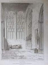 1821 3 buone dimensioni stampe di Dorchester Abbey, vicino a Wallingford, Oxfordshire