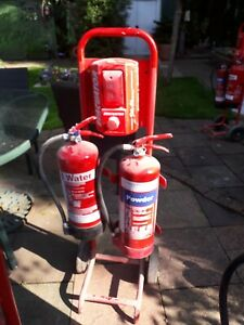 Fire Extinguishers  And Stand