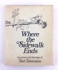 Shel Silverstein WHERE THE SIDEWALK ENDS 1974 TRUE 1st ED w/DJ Giving Tree RARE