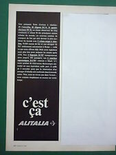 7/1969 PUB ALITALIA ITALIAN AIRLINE DC-8 DC-9 BOEING 747 CARAVELLE FRENCH AD