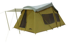 TREK 16' x 10' CANVAS BASE CAMP TENT w/Custom FLY Cover FREE SHIPPING