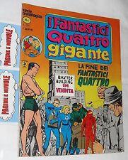 I FANTASTICI QUATTRO GIGANTE n. 4 - ed. Corno