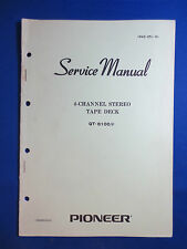 Pioneer QT-6100 Reel To Reel Service Manual Factory Original The Real Thing