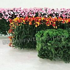 MP SCENERY 6 Mixed Hedges HO Scale Architectural Flower Hedge Railroad Layout