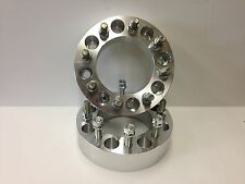 """(2 pc) BILLET WHEEL ADAPTERS 8x170 TO 8x6.5 2"""" SPACER  FORD TO CHEVY DODGE 8 LUG"""