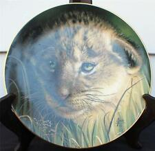1991 Princeton Gallery Curbs of Big Cats Plate Collection Lion Cub Décor Plate