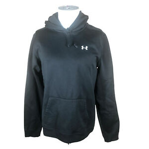 Under Armour Youth XL Solid Black Pullover Kangaroo Pocket Hoodie Embroidered
