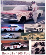 #24 Tiny Lund 1965-66 Ford Galaxie Bill Beck Ford 1/64th  Scale Slot Car Decals