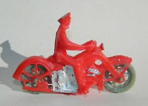 VINTAGE RARE HARLEY DAVIDSON MOTORCYCLE POLICE HUBLEY AUBURN MEXICAN TOY RED
