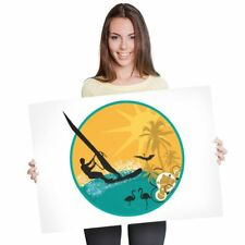A1 - Tropical Windsurfing Surfer Surfing Wave Poster 60X90cm180gsm Print #7132