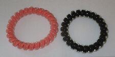 Swirly Do Hair Ties Orange Black (2) Tangle Free Ponytail New SwirlyDo Large