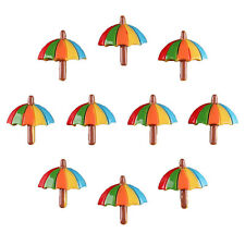 10pcs Tropical Summer Beach Umbrella Resin Flatbacks Girl Hair Bow Crafts DIY