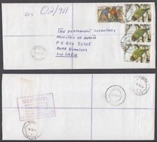 ZAMBIA 1999 REGISTERED COVER WWF (x3) (ID:677/D46603)