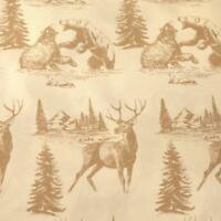CastleCreek Polyester Bed Sheets / Pillow Case Set, Deer Bear Nature Hunting
