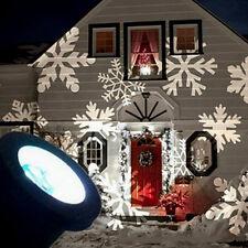 LED Moving Snowflake Landscape Laser Projector Lamp Garden Light REAL US SELLER!