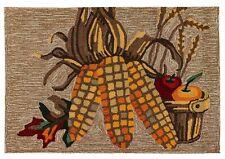 """Rugs - """"Bountiful Harvest"""" Indoor Outdoor Rug - 30"""" x 48"""" - Thanksgiving - Corn"""