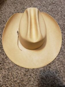 Stallion By Stetson Natural Color Straw Cowboy Western Hat 6 7/8