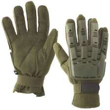 Valken V-Tac Full Finger Plastic Back Gloves - Olive - Medium