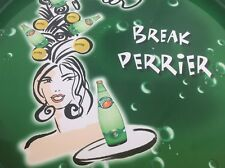 Break Perrier Green Bubbly Water Serving Tray Round Waitress Chiquita Banana