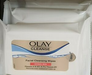 X3 Olay Facial Cleansing Wipes, 20 in each pack. For Normal Skin. Pack of 3