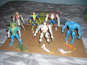 X-Men action figures lot of 6 Toy Biz 1994 with backing cards