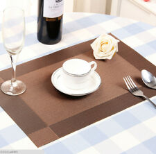 PVC Insulation Place Mats Protective Dinner Dining Table Placemats Tableware