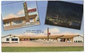 101112 Pioneer Lodge Motel Clovis NM Vintage Roadside Postcard 1954