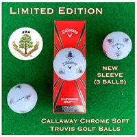 Callaway Chrome Soft TRUVIS Golf Balls - Carnoustie Golf Links NEW 3-ball sleeve