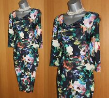 COAST Ramona Mosaic Floral Print Silky Jersey 3/4 Sleeves Party Dress UK12 EU40