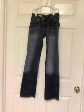 Decree junior ladies jeans size 0 denim blue distressed  Y7