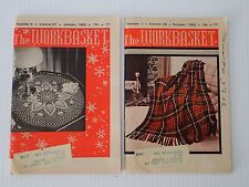 The Workbasket Magazine 2 issues from 1962 January and October