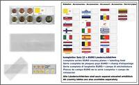 1 LOOK 1-K7ES-VAT Münztaschen Hüllen Euro Kursmünzensätze + Vatikan Flaggen