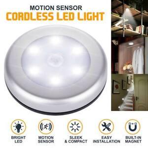 6 LED Motion Sensor Wireless Night Lights Cabinet Stair Lamp PIR Battery Light