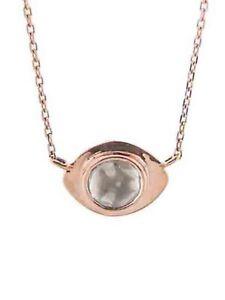 Celine Daoust 14k rose gold polki diamond evil eye necklace $1145