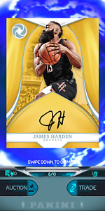 PANINI NBA DUNK - James Harden Sig 6/10 Opulence 2018 LIMITED - DIGITAL CARD
